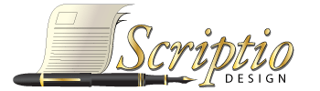 Logo firmy Scriptio design